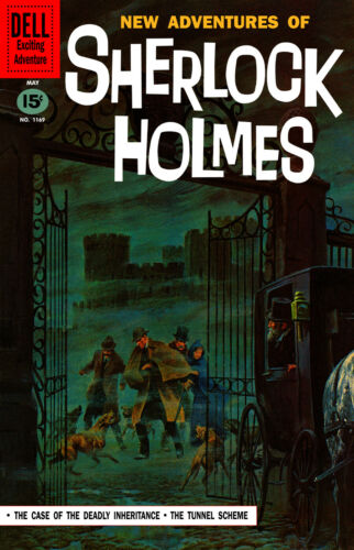 Comic Covers Four Color No.1245 1962 16x24 Adventures of Sherlock Holmes No.2