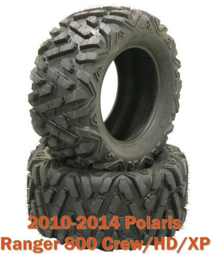 2 26x9R12 Radial ATV Front Tire Set for 10-14 Polaris Ranger 800 Crew//HD//XP