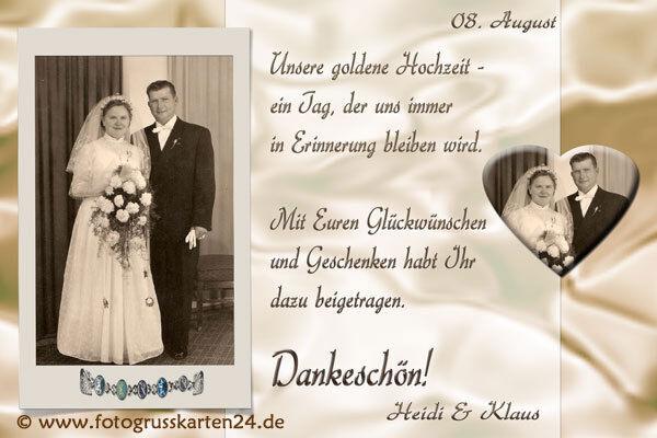 Danksagungskarten Goldene Hochzeit Danksagungen Goldhochzeit 10 x Foto  KuGrüns     Für Ihre Wahl    Online Outlet Store