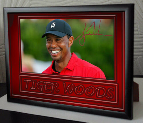 TIGER WOODS 2018 WIN Framed Canvas Portrait Signed