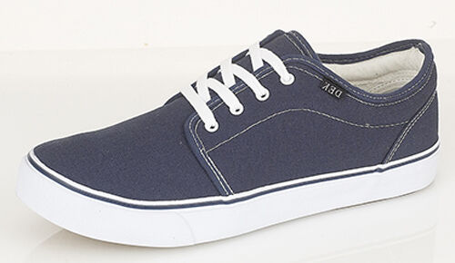 3aa1b83ad5 DEK Hector Unisex Mens Ladies Womens Canvas Lace-up Summer Comfy Deck Shoes  Navy UK 7