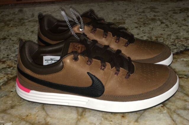 sports shoes ee1e4 190bb NIKE LunarWaverly Waterproof Brown Leather Golf Shoes Mens 9 9.5 10 10.5 11  11.5