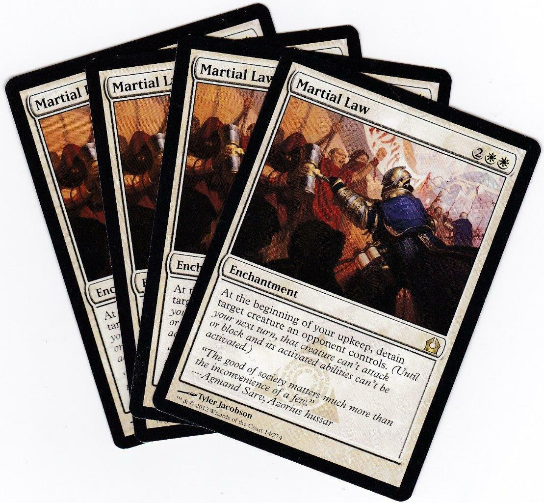 Return to Ravnica ~ MARTIAL LAW rare Magic the Gathering card