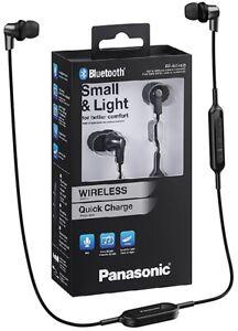 Panasonic-RP-NJ300BE-K-schwarz-Wireless-Bluetooth-Ergo-Fit-Kopfhoerer-BRANDNEU