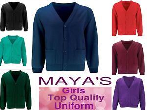 New Girls School Uniform Fleece Sweatshirt Cardigan Pack of 2