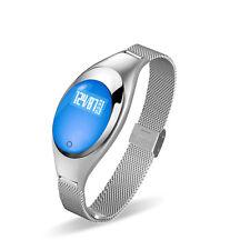 Blood Pressure Smart Watch Lady Fitness Tracker Girl Woman Smart Bracelet Silver