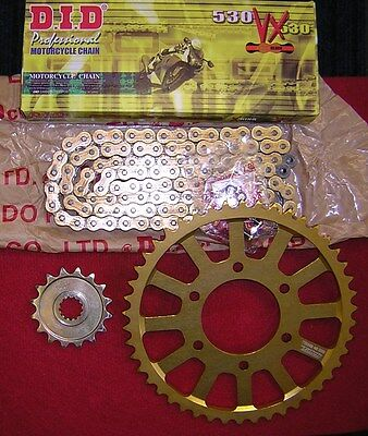 Kawasaki ZX900 //C1-2//E1-2 ZX-9R 2004 DID XRing Gold Chain and Sprocket Kit Set