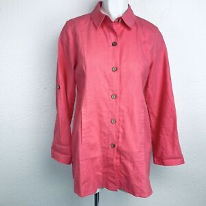 SIMPLY-NOELLE-LINEN-COTTON-WOMEN-SHIRT-SIZE-8-10-New-Without-Tags