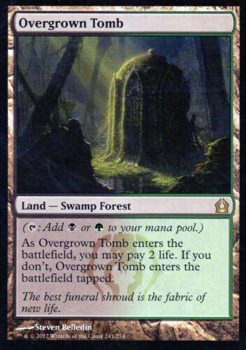 Overgrown Tomb//überwachsene sépulture-Return to Ravnica-Magic-EX-étroitement