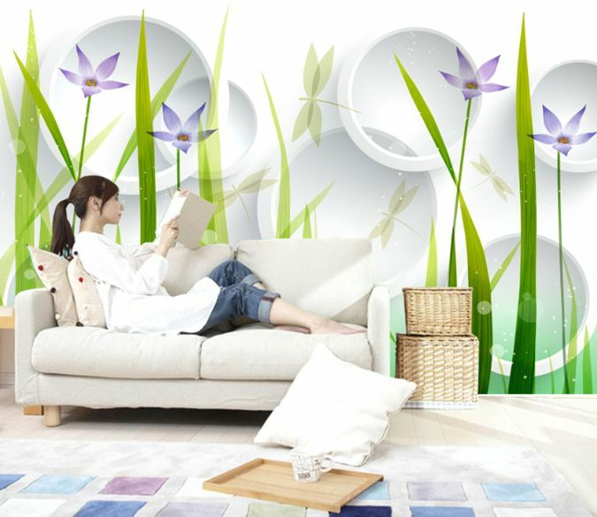 3D Elegant Flowers 620 Wall Paper Murals Wall Print Decal Wall Deco AJ WALLPAPER