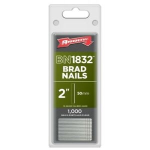 Arrow Fastener BN1832CS 2-Inch Brad Nails, 18-Gauge