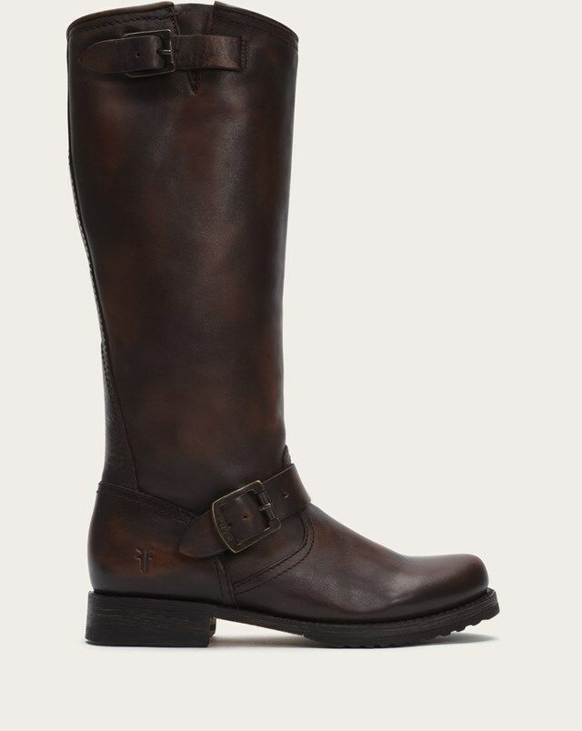 LADIES FRYE VERONICA SLOUCH DARK marron bottes 77609 DRN