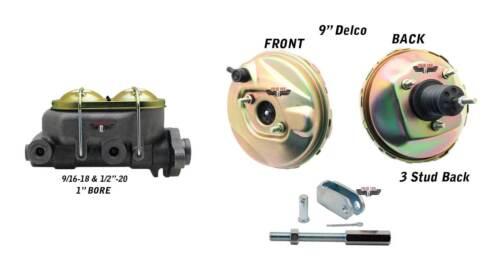 "1962-67 Chevy II Nova 9/"" Power Brake Booster /& Dual Reservoir Master Cylinder"