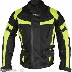 Richa-Ridge-Jacket-Motorcycle-Motorbike-Black-Fluo-Yellow-Jacket-79-99