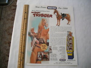 1999 BREYER ROY ROGERS TRIGGER DEALER PROMOTIONAL ADVERTISING SHEET 2-SIDED