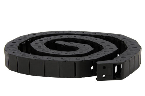 Drag Chain Black Plastic Semi Closed Cable Carrier 15 x 30mm for CNC Router Mill