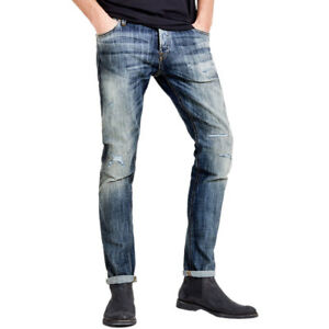 8943-Jack-amp-Jones-Glenn-Jos-988-Vaqueros-Slim-Fit-Pantalones-Hombre-Azul