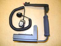 Camera Flip Flash Bracket Grip With Cord For Nikon D3000 D3100 D3200 D600 D800