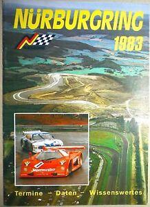 1983-Termine-Donnees-Bon-a-Savoir-Nurburgring-Brochure-de-Programme-A-II06