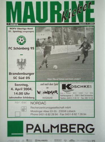 Programm 2003/04 FC Schönberg 95 - Süd Brandenburg
