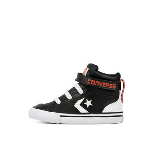 Details about CONVERSE INFANT PRO BLAZE STRAP HI BLACK WHITE BRIGHT POPPY SIZE 5,6,7,8,9,10