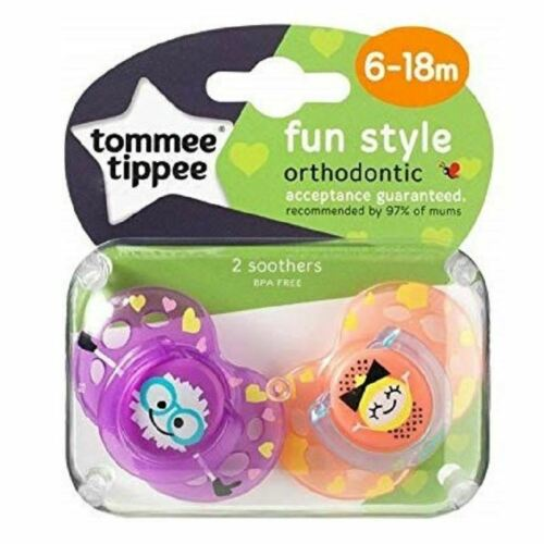 Tommee Tippee Soother Fun Style 6-18m Purple Orange