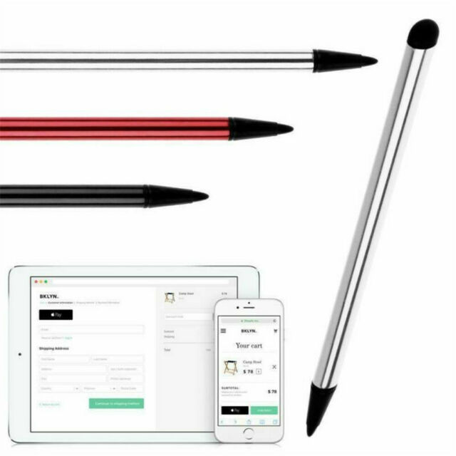 Fine Point Round Thin Tip Capacitive Stylus Pen for Smart Phones Tablet iPad NEW