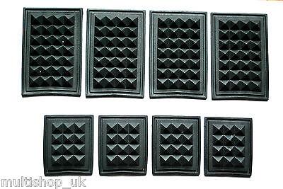 4 x BLACK RUBBER BOTTOM FEET for BAG, BACKPACK, CASE 2 sizes SEWABLE