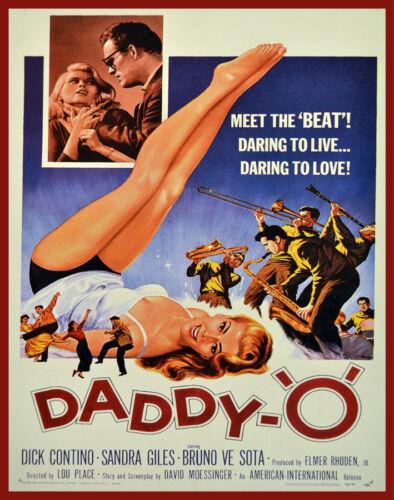 Movie POSTER.Daddy O film.Rock.Home Room wall decor Decorator art print.q615