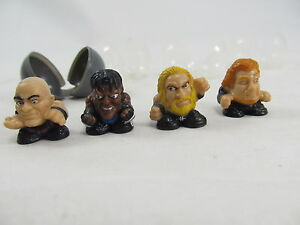 Squinkies Lot Of 4 WWE Figures Cool!! Check These Out!! WCW Wrestling Toys
