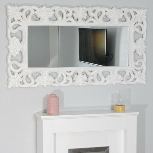 XXL miaVilla Wandspiegel Spiegel Barock-Stil in weiß 170 x70 cm