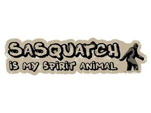 Sasquatch-is-my-spirit-animal-Bumper-Sticker