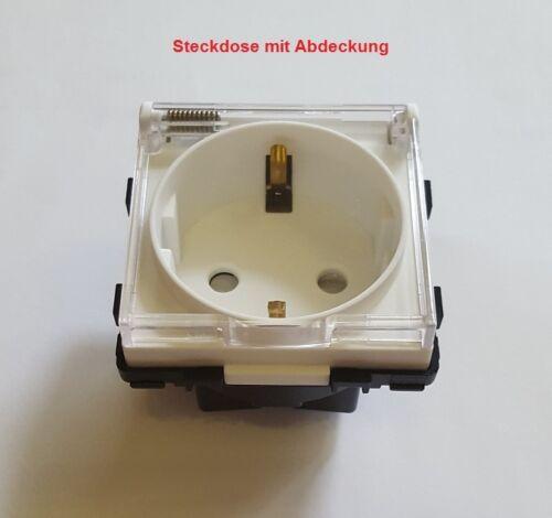 Wipp Schalter Lichtschalter Glas Steckdose Wechselschalter Serienschalter Weiß 2