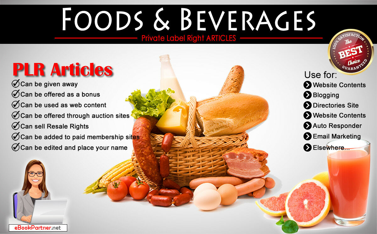 1200+ PLR Articles on Foods & Beverages Niche Private Label Rights