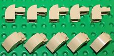 Lego 10x Tan Brick Arch, Modified 1x2x1 with Curved Top (6091) NEW!