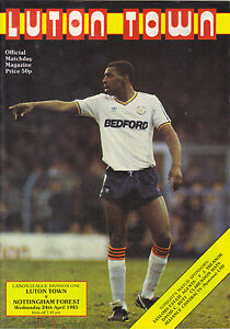 Luton Town v Nottingham Forest 198485 division 1 - <span itemprop=availableAtOrFrom>Letchworth, United Kingdom</span> - Luton Town v Nottingham Forest 198485 division 1 - Letchworth, United Kingdom