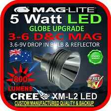 MAGLITE LED UPGRADE 3-6 C&D CREE 5W BULB GLOBE for TORCH FLASHLIGHT 3.6-9V 800lm