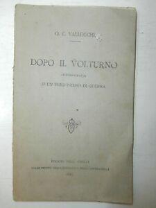 Rarissimo antico libro Dopo il Volturno 1887 Garibaldi Mille risorgimento