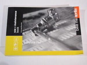 aprilia shiver 750 use maintenance book owners manual fahrerhandbuch rh ebay com aprilia shiver 900 owners manual aprilia shiver 900 owners manual