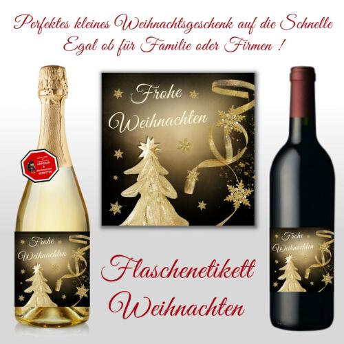 Weihnachten Des.16 Sektflaschen Bierflaschen Weinflaschen Flaschenetikett f