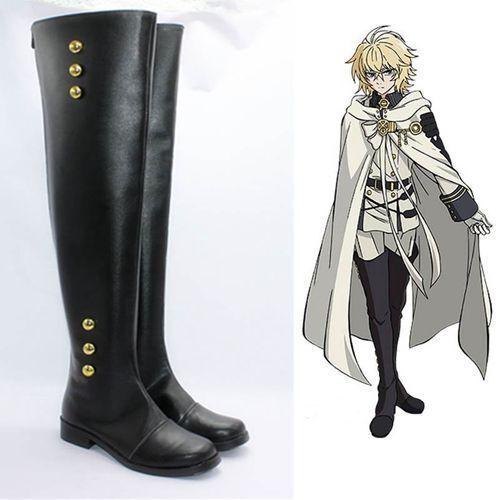 Seraph of The End Ferid Bathory Hyakuya Mikaera Mikaela Cosplay Boots Shoes{COS}