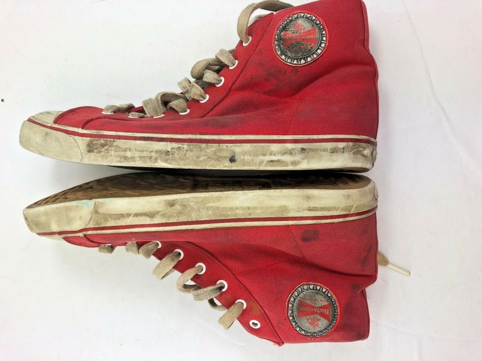 badcd0fc30875a Vintage Vintage Vintage Budweiser Converse shoes Red Men Size 9 Free  Shipping Extremely Rare ea11cd