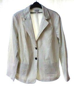 ETAM-ladies-white-with-black-pin-stripe-jacket-size-22
