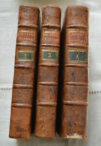 1794 Dictionnaire abrégé d'histoire naturelle 3 Tomes Animal, minéral et végétal