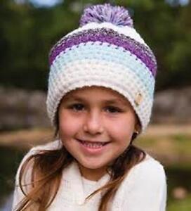 Millymook Girls Beanie Tash Berry - Girls Lined Knit Beanie Purple ... 4bc05af1712