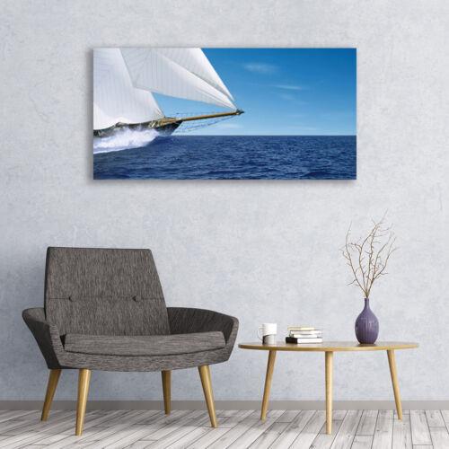 Leinwand-Bilder Wandbild Canvas Kunstdruck 120x60 Boot Meer Landschaft