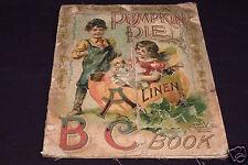 Pumpkin Pie ABC, linen book, 1900, McLoughlin Bros, SCARCE!