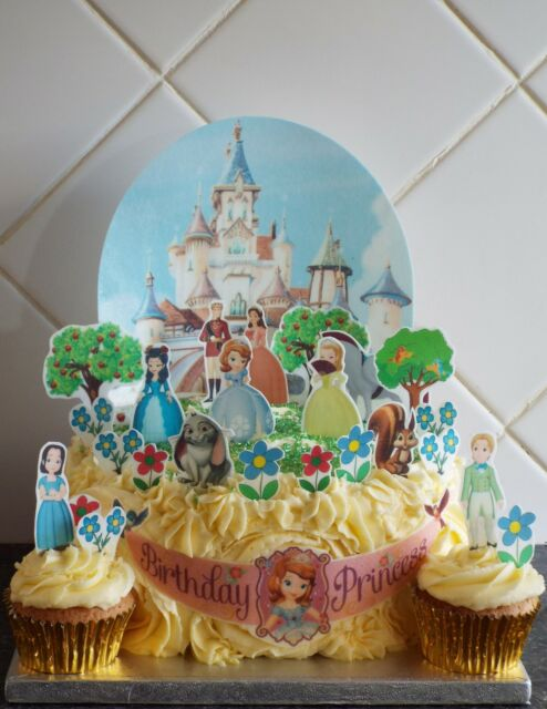 Disney Sofia the First Castle Scene **WAFER** Edible Cake Decoration Set