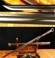 "40"" Damascus Folded steel Blade Chinese 环首剑 Handmade Rosewood Sheath Sword"