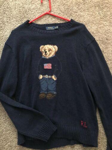 Polo Ralph Lauren Bear Sweater XXL Navy Blue